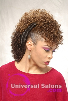 Right Side Curly Mohawk Hairstyle with Twists from Shae Thompson