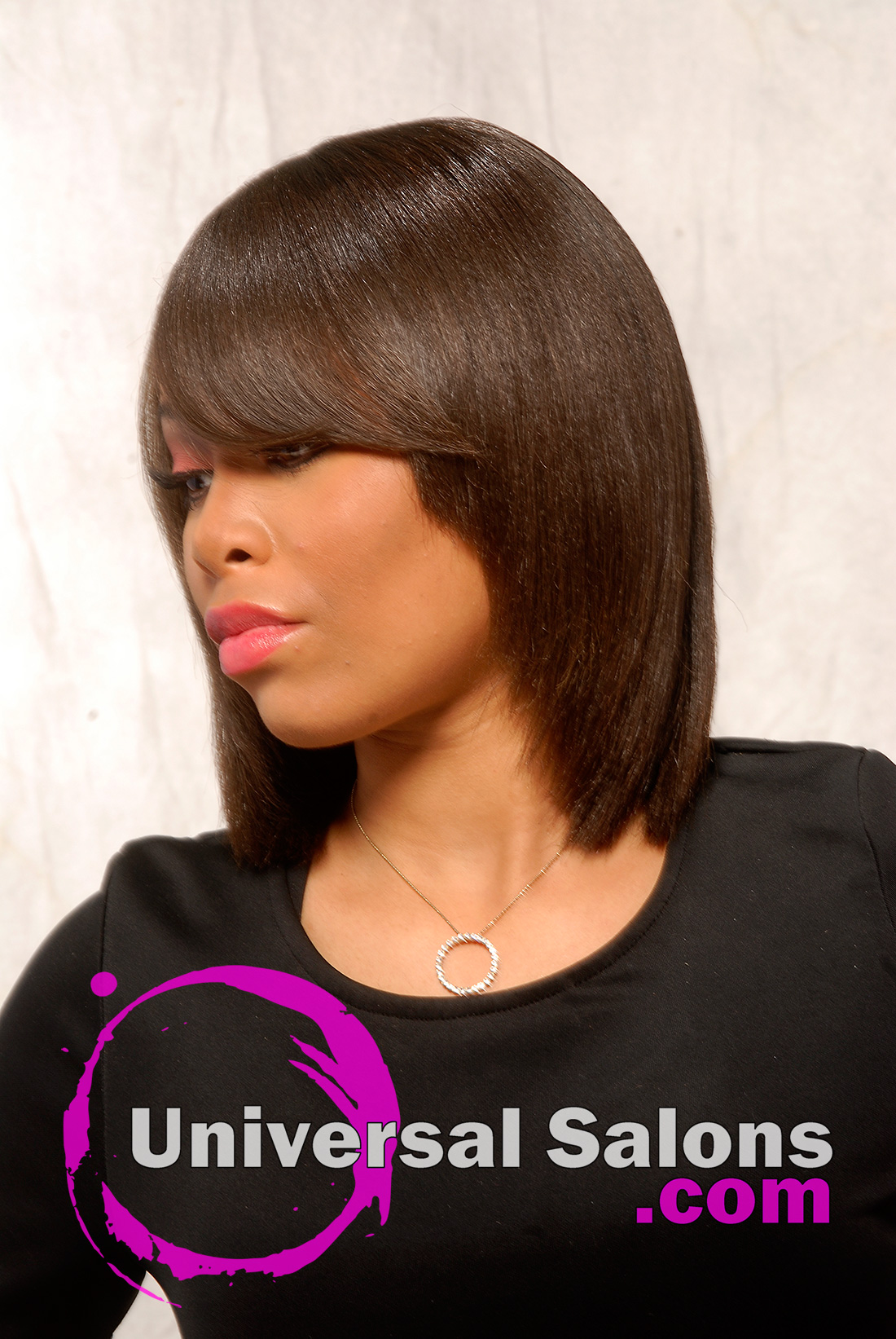 Mid Length Hairstyle from Kenya Young