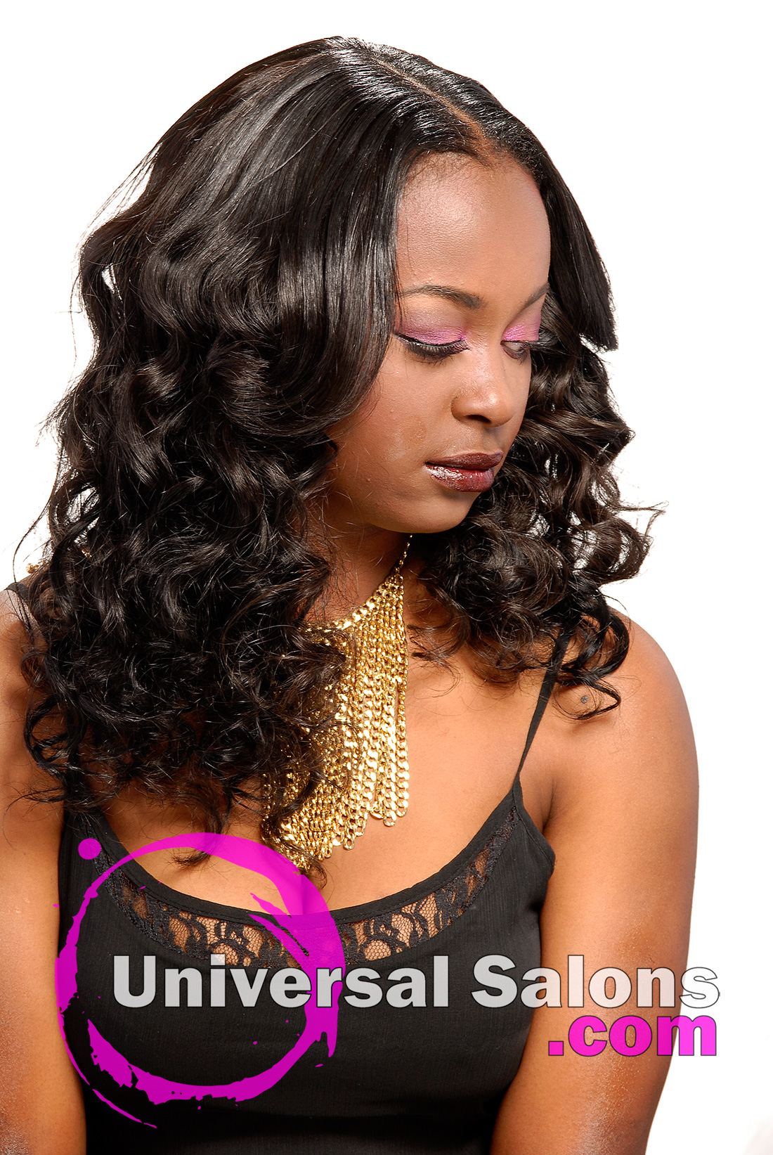 Long Hairstyle with a center Part from Denise Granberry