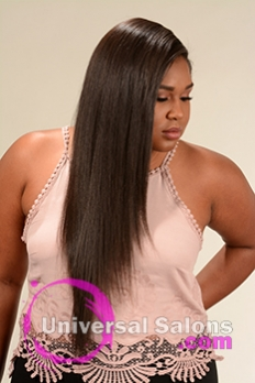 Right Side View of a Long Hairstyle for Black Women from Yoshie Brown