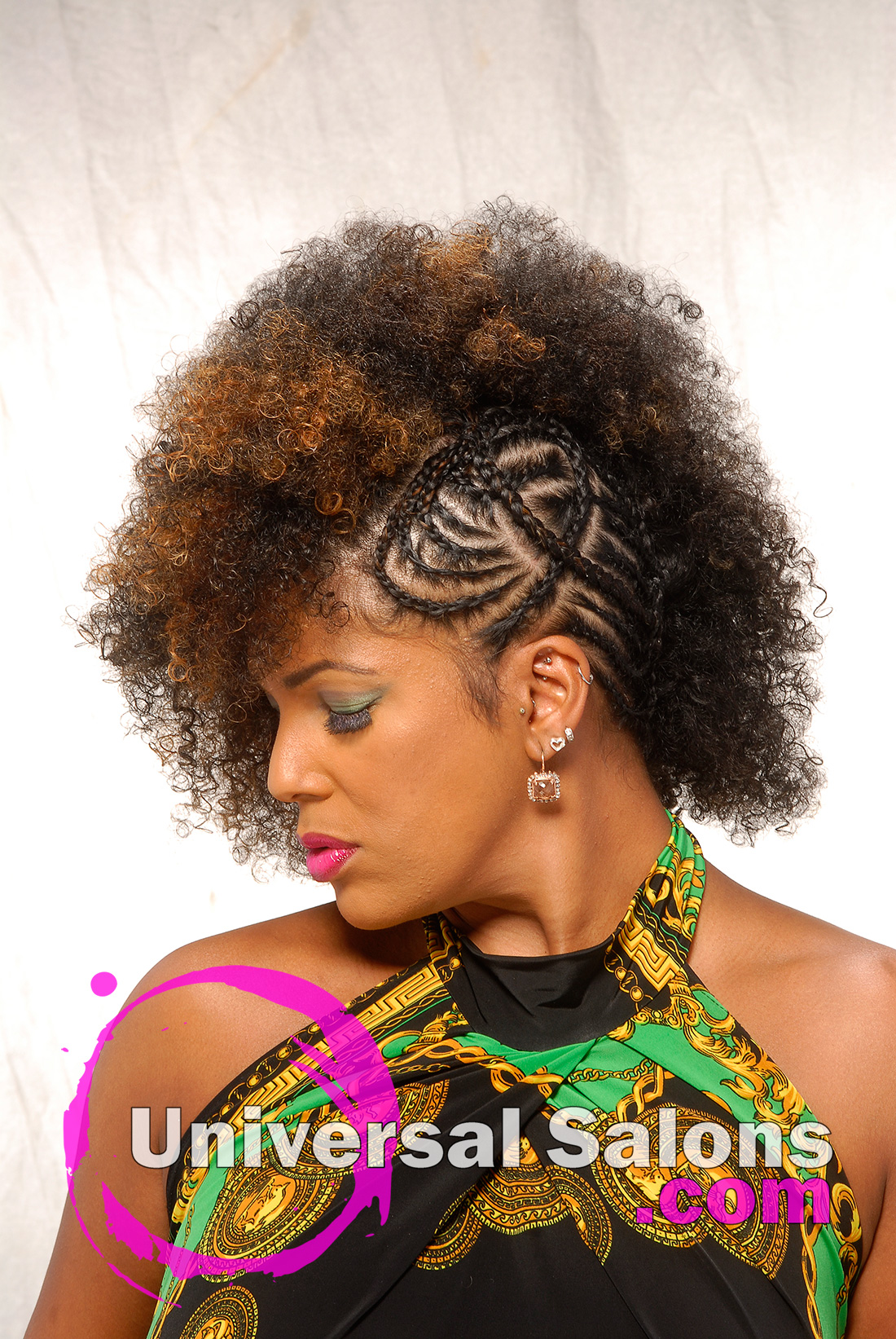 Natural Hairstyle with Hair Color from Whitney Walls