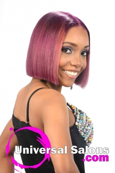 Blunt Bob Haircut with Bubble Gum Hair Color from Deirdre Clay (4)