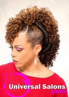 Bold Fish Braid Mohawk Hairstyle from Shae Thompson (4)