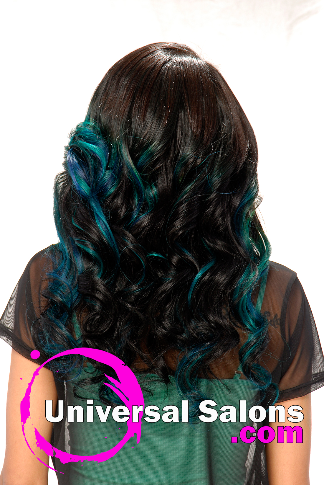 Long Double Ombre Cascade Curls from Denise Granberry