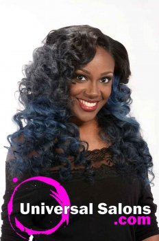 Right Side View Long Curly Hairstyle for Black Women from Jacqard Daniels (1)
