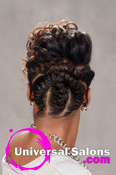 Natural Hairstyle with Braids and Twists from Sess Cannon (4)