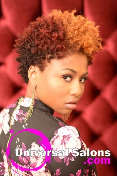 Natural Hairstyle with Curls and Hair Color from D Hair Weaver (5)