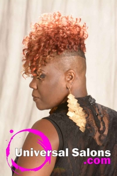 Short Curly Hairstyle with Tapered Sides from Katina King (4)