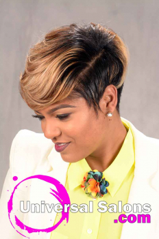 Short Hairstyle with Tapered Sides and Color from Tasha Hull (2)