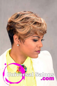 Short Hairstyle with Tapered Sides and Color from Tasha Hull (3)
