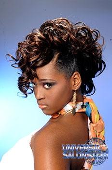 Rasheeda Berry's Curly Mohawk Hairstyle