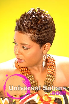 Katrina Ammons' Short Hairstyle with Curls