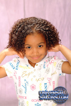 Natural Curly Bob black Hairstyle for Little Girls