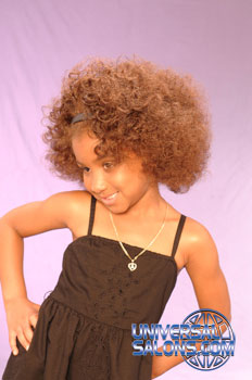 Right View: High Volume Bob Hairstyle for Little Girls