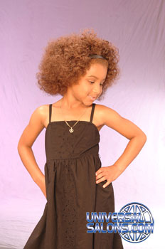 Left View: High Volume Bob Hairstyle for Little Girls