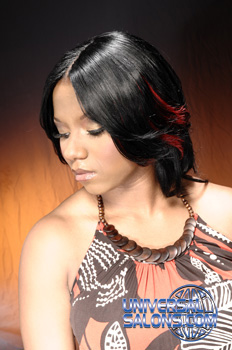 Long Hairstyle with Red Highlights from Malikea Hollis