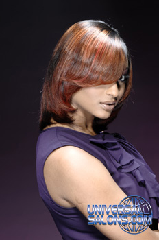 Medium length Hairstyle with Hair Color from Agatha Martin-Grimes