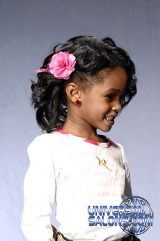 Right Side: Curly Bob Black Hairstyles for Little Kids