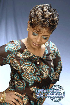 Short Hairstyle with Crimps and Twists from Nancy Hamilton