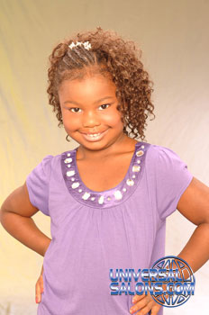 Front: Little Girl with Cornrows and Tight Curls