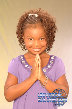 Little Girl with Cornrows and Tight Curls