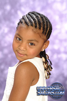 Model Looking Over Her Shoulder Cornrows for Black Hairstyles for Little Girls