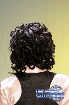 Back View: Cornrows Curly Bob Hairstyle