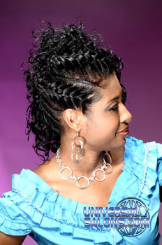 Updos with a French Braid Hairstyle from Angela Pooler