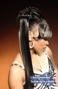 Ponytail Hairstyle with Ridges, Twist and Highlights from Shontelise Crutch