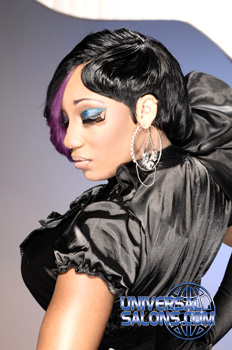 Short Black Hairstyle with Highlights from Marcus Doss