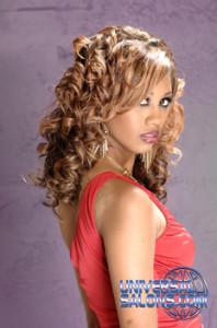 Bang'n Hues of Blonde Long Curly Hairstyle from Jackie Evans