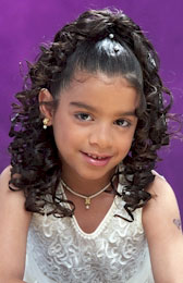 Cascading curls Ponytail Black Hairstyles for Little Girls