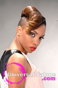 """Lacey Singleton's """"Fire & Desire"""" Short and Hairstyle with Color"""