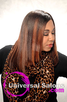 """Pamela Webster's """"Flat Doobie Wrap"""" Long Hairstyle with Highlights"""