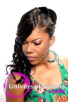 """Ife' Davis-Bailey's """"Diva's Flare"""" Long Hairstyle with Curls"""