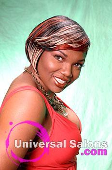 "Elegant ""Sideswept and Banging"" Short Haircut from Ebony Curtis"