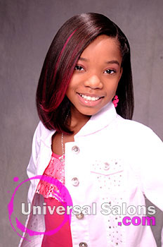 """A Young Girl's """"Pretty in Pink"""" Spunky Hairstyle from Shakia Allen"""