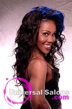 Shauna Robinson's Long Blue Moon Curly Hairstyle