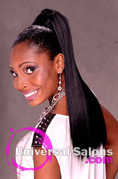 Elegant Long Ponytail Hairstyle from Marie Coleus