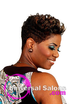 Nancy Hamilton's Funky Highlighted Mohawk Hairstyle