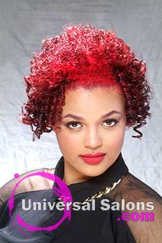 """""""Tee"""" Rogers' Natural Hairstyle with """"Fire"""" Hair Color"""