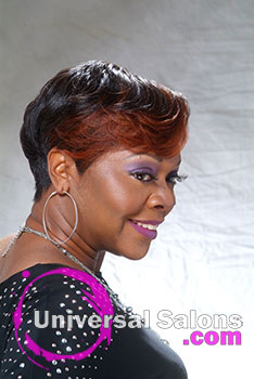 Short Hairstyle with Auburn Hair Color from Audrey Ravenell