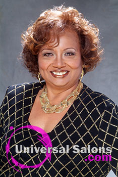Curly Black Hairstyle with Hair Color from Erma Stephens