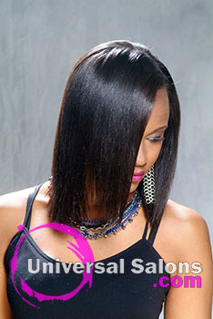Long Natural Black Hairstyle from Deirdre Clay