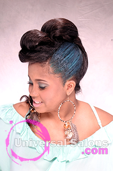 """Shae Thompson's """"Mint Caramel"""" Updo with Hair Color"""