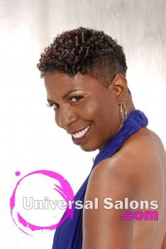 Ebony Curtis' Short Mohawk Hairstyle