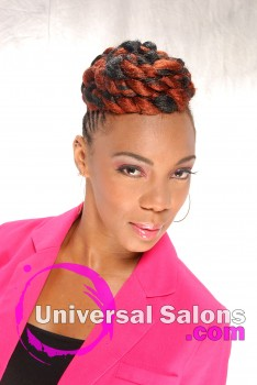Fire Goddess Braided Mohawk Hairstyle from Apryl Mcabee