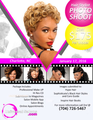 Charlotte NC Hairstylist Photo Shoots