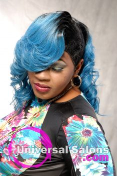 """""""Blue Magic"""" Long Hairstyle Extensions form Amber Mcclain"""