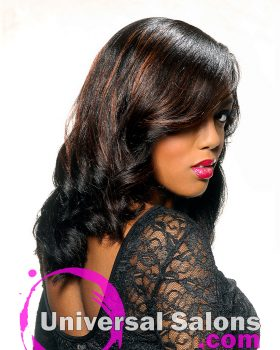 Long Natural Hairstyle with Soft Curls from Kenya Young